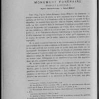 «Monument funéraire (famille Lescuyer ?)»