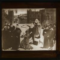 La Sibylle de Tibur annonçant à Auguste la naissance du Christ (Dieric Bouts)