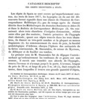 Catalogue descriptif des objets découverts à Spata