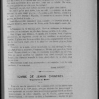 «Tombe de Jehan Chintrel, seigneur de la Mothe»
