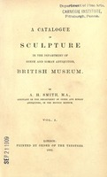 A catalog of sculpture in the Department of Greek and Roman antiquities.jpg